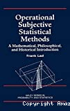 Operational Subjective Statistical Methods