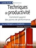 Techniques de productivité. Comment gagner des points de performance.