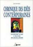 Chronique des idées contemporaines