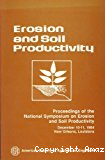 Erosion and soil productivity.