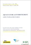 Aquaculture et environnement : aspects réglementaires