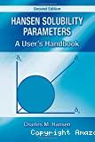 Hansen solubility parameters. A user's handbook.