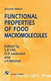 Functional properties of food macromolecules.