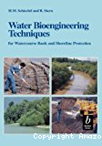 Water bioengineering techniques for watercourse bank and shoreline protection