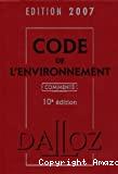 Code de l'environnement commenté. 10ème édition.