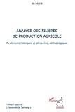 Analyse des filières de production agricole
