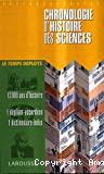 Chronologie d'histoire des sciences