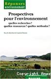 Prospectives pour l'environnement