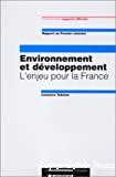 Environnement et développement