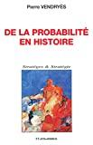 De la probabilité en histoire : l'exemple de l'expédition d'égypte