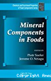 Mineral components in foods.