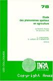 Etude des phénomènes spatiaux en agriculture