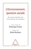 L'environnement, question sociale