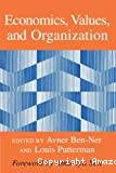 Economics, values, and organization.