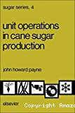 Unit operations in cane sugar production.