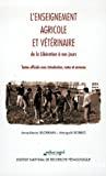 L'enseignement agricole et vétérinaire de la Libération à nos jours