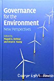 Governance for the environment. New perspectives