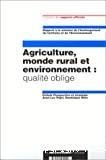 Agriculture, monde rural et environnement