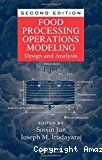 Food processing operations modeling. Design and analysis.