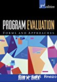 Program evaluation. Forms and approaches