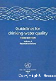 Guidelines for drinking-water quality. Third edition. Volume I, recommendations
