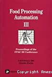 Food processing automation III - Conference (09/02/1994 - 12/02/1994, Orlando, Etats-Unis).