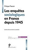 Les enquêtes sociologiques en France depuis 1945