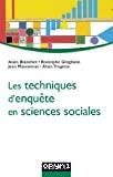 Les techniques d'enquête en sciences sociales.