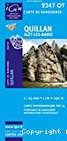Carte IGN 1/25000, n° 2347 OT, Quillan, Ales-Les-Bains