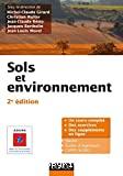 Sols et environnement