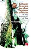 Evaluation financière des arbres d'agrément et de production