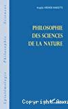 La philosophie des sciences de la nature