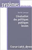 L'évaluation des politiques publiques locales