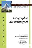 Géographie des montagnes
