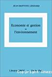 Economie et gestion de l'environnement