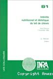 Intérêts nutritionnel et diététique du lait de chèvre