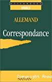 Allemand : correspondance