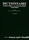 Dictionnaire d'histoire et de géographie agraires