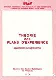 Théorie des plans d'expérience