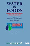 Water in foods. Fundamental aspects and their significance in relation to processing of foods - 5th international symposium on the properties of water in foods (08/11/1992 - 14/11/1992, Peniscola, Espagne).