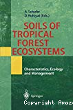 Soils of tropical forest ecosystems. Characteristics, ecology and management