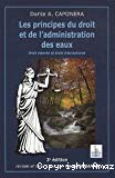 Les principes du droit et de l'administration des eaux