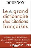 Le grand dictionnaire des citations françaises