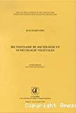 Dictionnaire de sociologie et synécologie végétales
