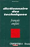 Dictionnaire général de la technique industrielle. Tome 9 : Français - anglais.