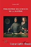 Philosophie des sciences de la matière