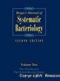 Bergey's manual of systematic bacteriology. Vol. 2 : The proteobacteria. Part A : Introductory essays.