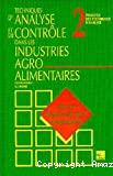 Techniques d'analyse et de contrôle dans les industries agro-alimentaires. (4 Vol.) Vol. 2 : Principes des techniques d'analyse.