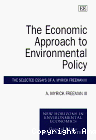 The economic approach to environmental policy