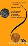 Les harmonies de la Nature à l'épreuve de la biologie : Evolution et biodiversité.